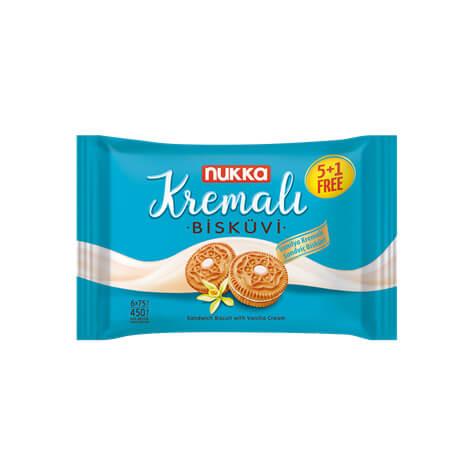 410009 - NUKK Kremali Kex Med Vaniljkräm450gx12