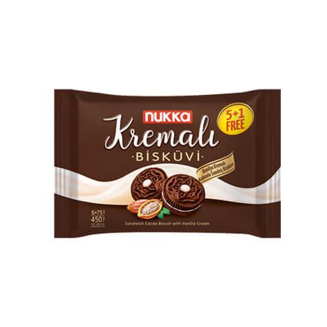 410011 - NUKK Kremali Chokladkex Med Vaniljkräm 450gx12